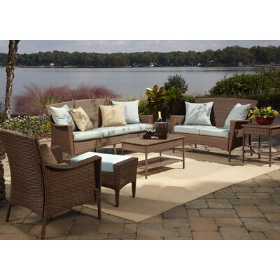 Key Biscayne 5 Piece Seating Group with Cushions Fabric: Canvas Spa