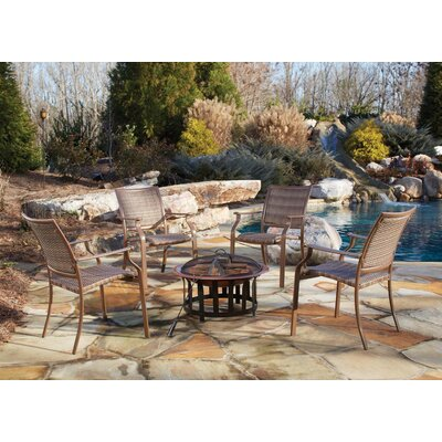 Island Cove 5 Piece Fire Pit Seating Group & Fire Pit Set