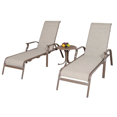 Island Breeze 3 Piece Sling Chaise Lounge Seating Group