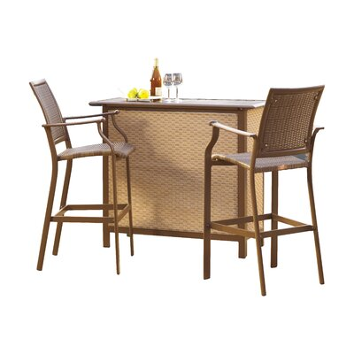 Island Cove 3 Piece Bar Set