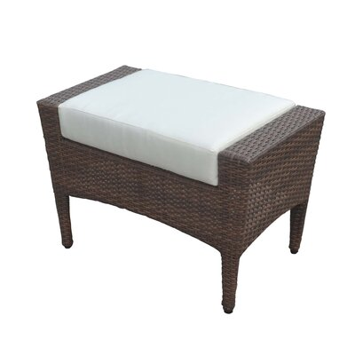 Key Biscayne Ottoman with Cushion Fabric: Canvas Natural