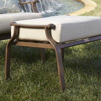 Island Breeze Ottoman with Cushion Fabric: Dupione Bamboo