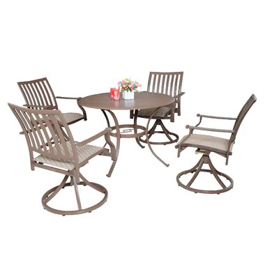 Island Breeze 5 Piece Slatted Dining Set