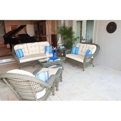 Carolina Beach 5 Piece Deep Seating Group with Cushions