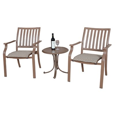 Island Breeze Bistro 3 Piece Lounge Seating Group