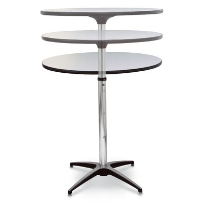 ProRent Gathering Table (Set of 5) Finish: Gray Glace, Size: 47 H x 36 W x 36 D