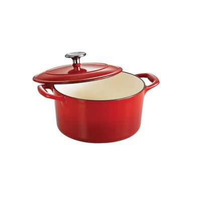 Tramontina Gourmet Enameled Cast Iron 6 1/2 Qt Covered Round Dutch Oven Gradated - Finish: Gradated Red at Sears.com