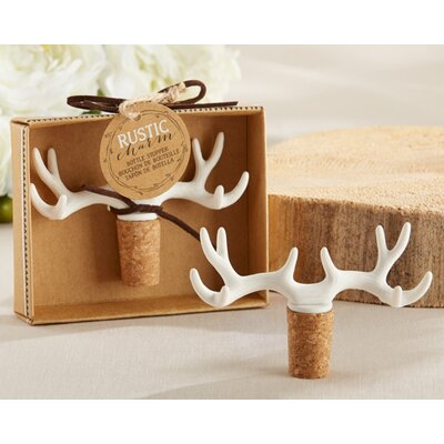 Leasure Antler Bottle Stopper (Set of 12)