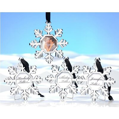 Snowflake Place Card Holder / Ornament (Set of 4)