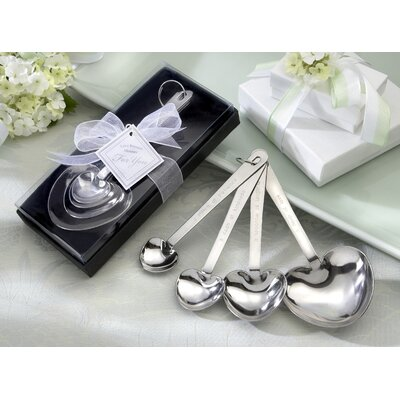 "Love Beyond Measure"" Heart Measuring Spoons in Gift Box (Set of 10)"