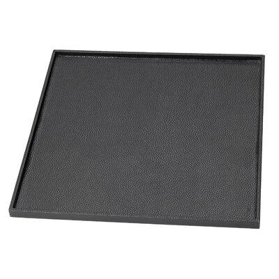 Leatherette Bathroom Accessory Tray Color: Black LEA27BLK