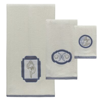 Chestertown Embroidered 3 Piece Towel Set