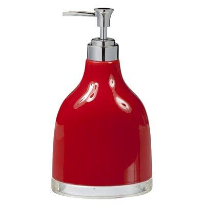 Gem Ceramic Lotion Dispenser Color: Red
