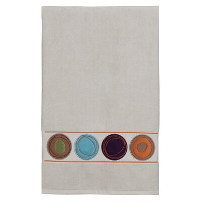Dot Swirl Embroidered Bath Towel Color: Multi