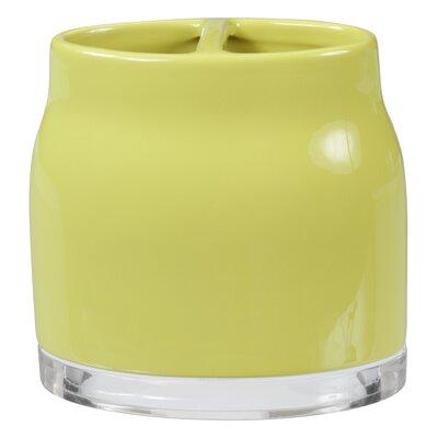 Gem Ceramic & Resin Toothbrush Holder Color: Lime