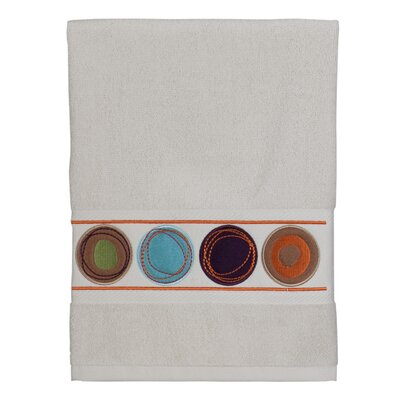 Dot Swirl Embroidered Hand Towel Color: Multi
