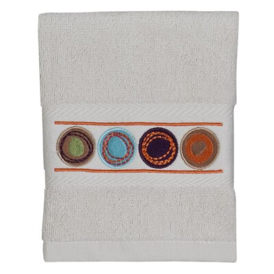 Dot Swirl Embroidered Wash Cloth Color: Multi