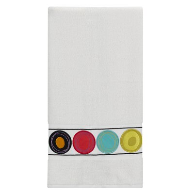 Dot Swirl Embroidered Bath Towel Color: Bright