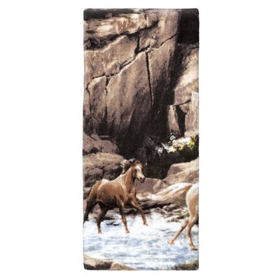 Horse Canyon Print Hand Towel