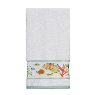 Rainbow Fish Print Hand Towel
