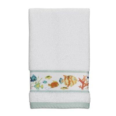 Nichol Fish Print Fingertip Wash Towel