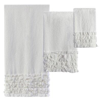 Xander Ruffles 3 Piece Towel Set