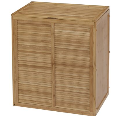 Louver Double Cabinet Laundry Hamper