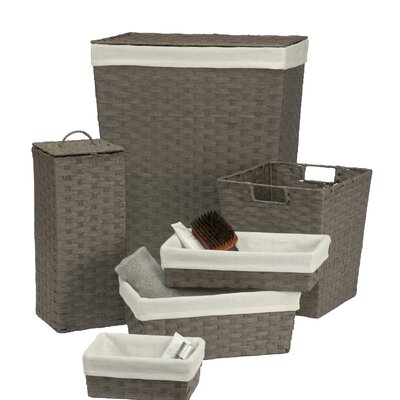 Laundry Hamper and Waste Basket Set