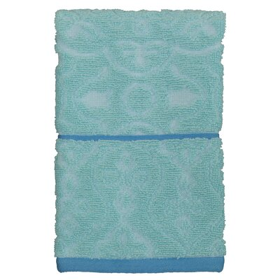 Lashley Blue Cotton Fingertip Towel