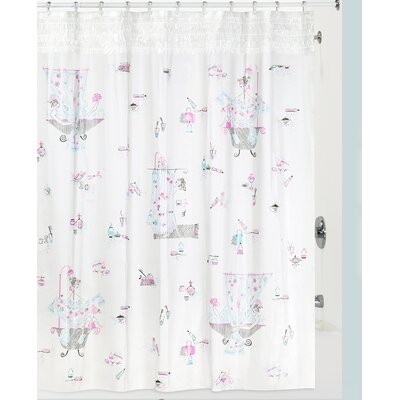 Shufelt Shower Curtain Color: White