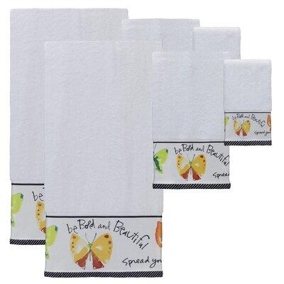 Herzberg Print 6 Piece Towel Set