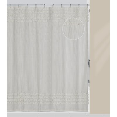 Can Can Polyester/Cotton Shower Curtain