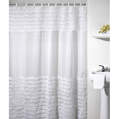 Ruffles Polyester Shower Curtain