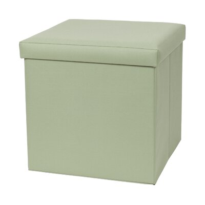 Fold N Store Cube Ottoman Upholstery: Green
