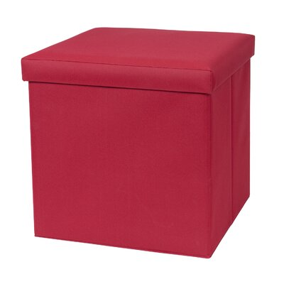 Fold N Store Cube Ottoman Upholstery: Cardinal Red