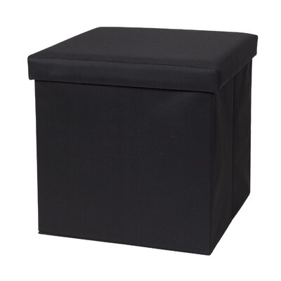 Fold N Store Cube Ottoman Upholstery: Black