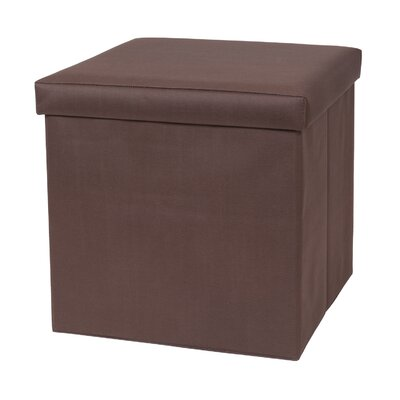 Fold N Store Ottoman Upholstery: Brown