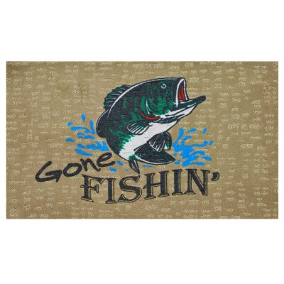 Gone Fishing Doormat