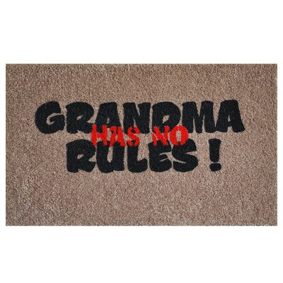 Grandma Rules Doormat