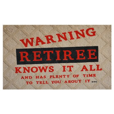 Retiree Doormat