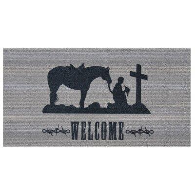 Prayerful Cowboy Doormat