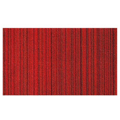Stripes Doormat Color: Rhapsody Red