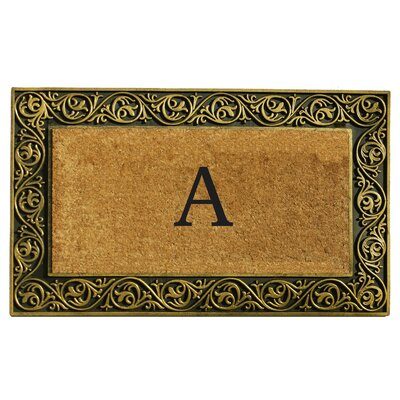 Prestige Personalized Monogrammed Doormat Color: Gold