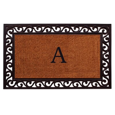 Rembrandt Personalized Monogrammed Doormat Mat Size: Rectangle 22 x 36