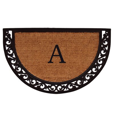 Ornate Scroll Personalized Monogrammed Doormat Rug Size: 22 x 36