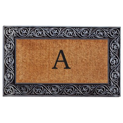 Prestige Personalized Monogrammed Doormat Color: Silver
