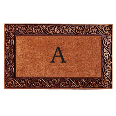 Prestige Personalized Monogrammed Doormat Color: Bronze