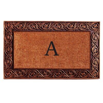 Prestige Personalized Monogrammed Doormat Color: Bronze