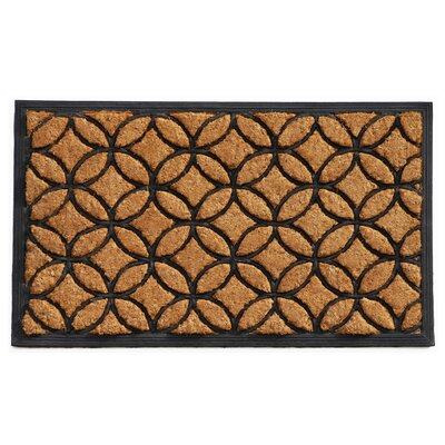 Circles Doormat Mat Size: Rectangle 2 x 3