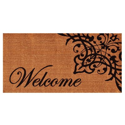 Skelley Scroll Welcome Doormat Mat Size: Rectangle 3 x 6